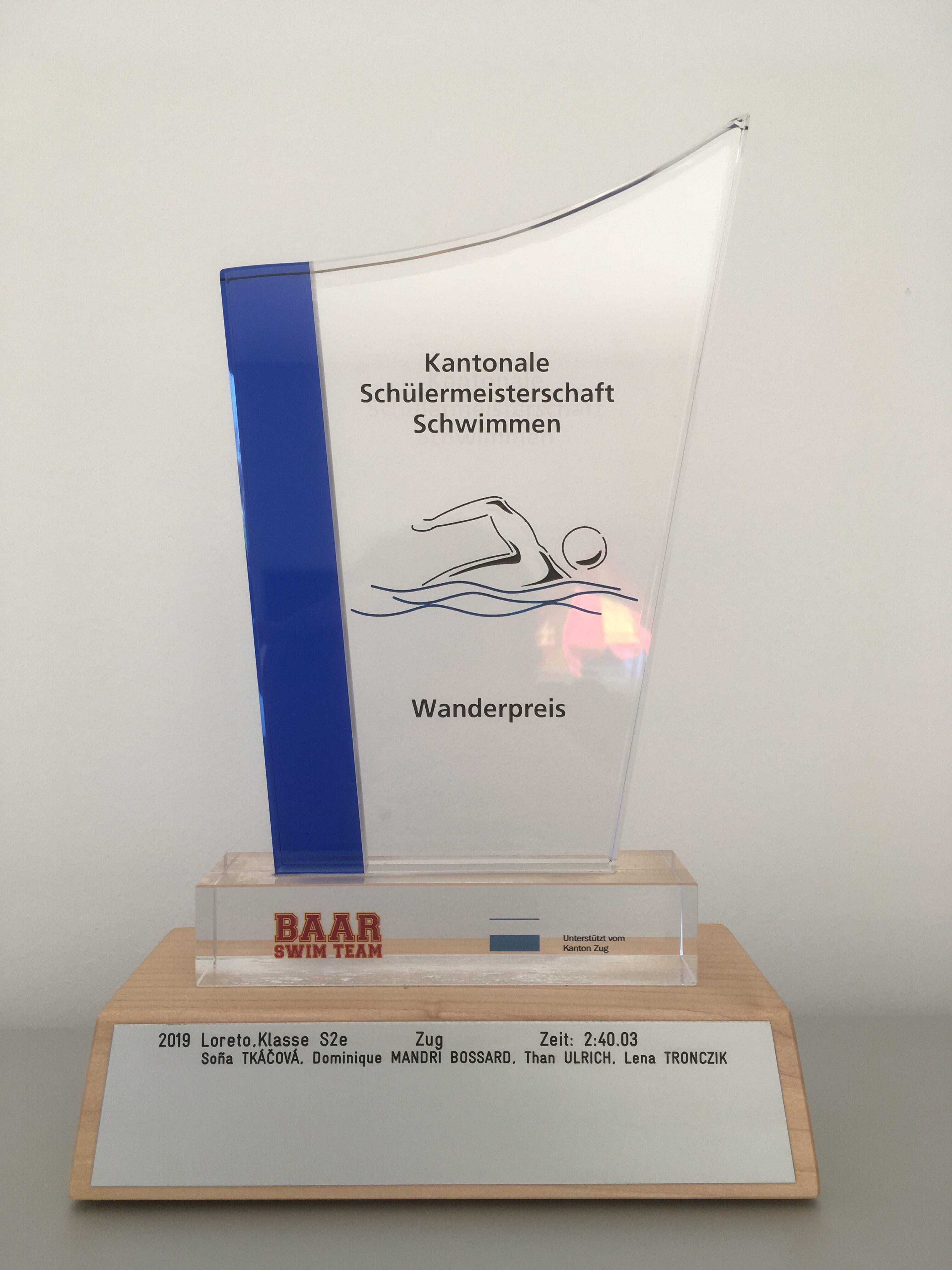 Siegermannschaft Schülerstaffette 2019